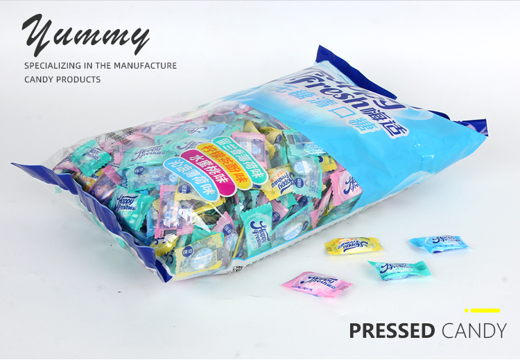 delicious sweet fruity flavor hard candy pressed refreshing sugar free mint tablet candy
