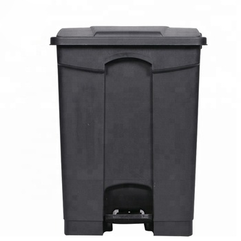 wholesale 13 gallon plastic trash can sanitary kitchen black foot pedal waste recycling bin