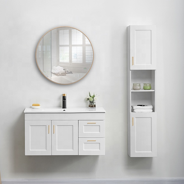 Export to North America modern white PVC cabinet bathroom