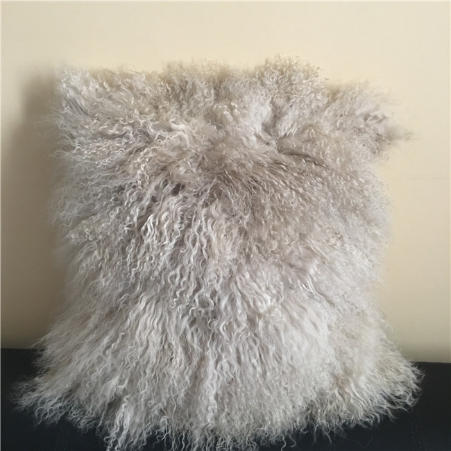 Tibet lamb wool cushion for decor home