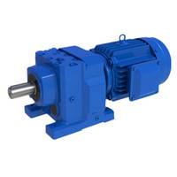 5.5kw R97 32i 1100N.m 45rpm helical speed gear reducer R series bevel gear motor reduction