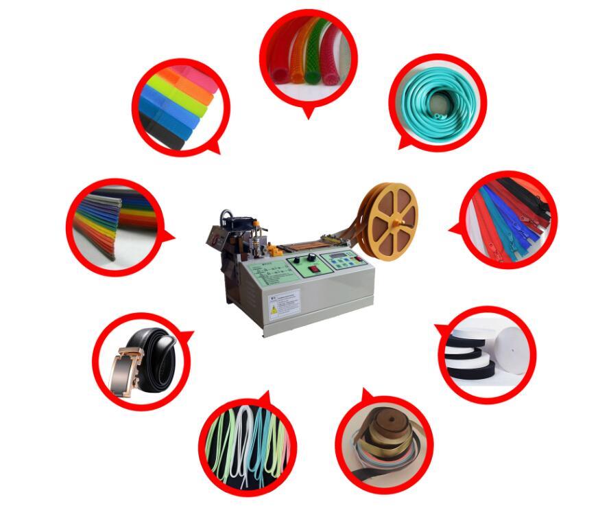 Automatic hot blade knife ribbon strap cutter webbing Belt Cutting Machine