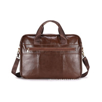 BUBM Mens Brown Briefcase Messenger Real Pure Genuine Leather Laptop Bag