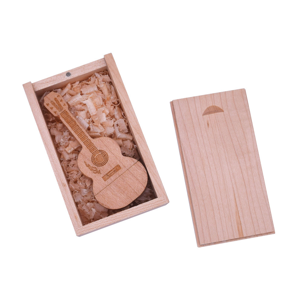 Hot Sale Wood Guitar Custom USB <strong>Flash</strong> Drive2.0 3.0 From 128MB to 2GB 8GB 16GB 32GB 128GB OEM Pen Drive Gift For Kids
