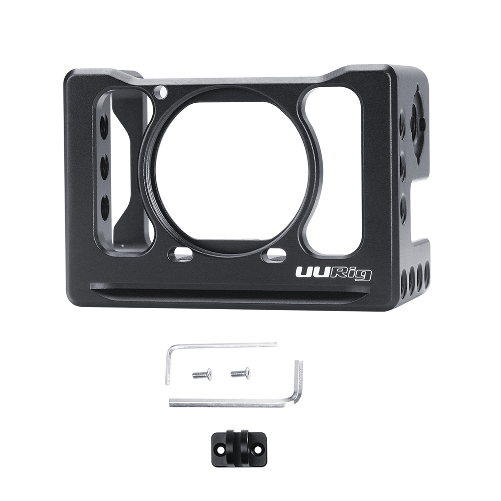 Camera Cage UURig C-RX0 II  Camera Vlog Support with Cold Shoe Mount for Sony RX0 II for Microphone Mini LED Light