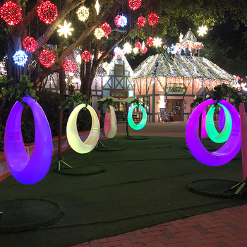 Recreation Facilities plastic led swings led moon chair
