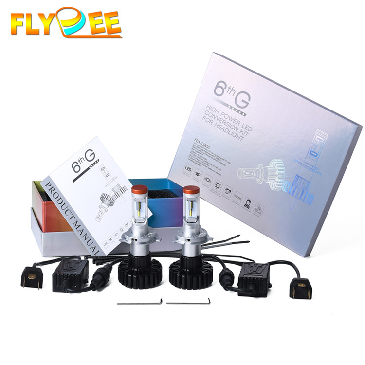 Focos led G6S 80W 9600LM ZES led chip head light for car factory wholesale