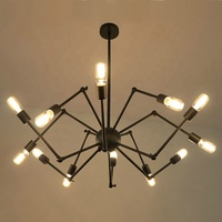 simig classical e27 chandelier light spider shape design pendant lamp livingroom hotel luxury chandelier lighting