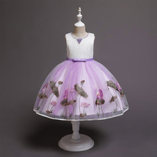 Modern latest flower baby girl dresses christmas dress for baby child wedding