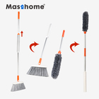 Masthome 2 in 1 cleaning long handle soft plastic broom and duster Plastic Indoor & Outdoor sweep Angle Broom Cleaning