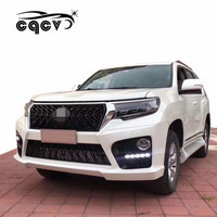 E style plastic material Body kit for toyota prado front bumper and rear bumper forToyota land cruiser prado 2018 facelift