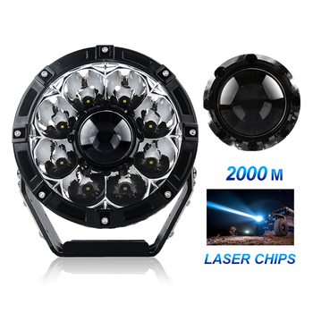 "2020 Kings 2000m Round Led Driving Light Work Lamp,160w 260w 185w 8.5"" 7"" 9"" inch Car Laser Work Light for Cars"