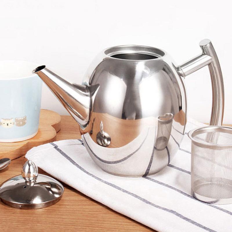 Большая емкость, чайник из нержавеющей стали для кофе, чайник для заварки, чайники, посуда для напитков, многофункциональная, с подогревом(Китай)