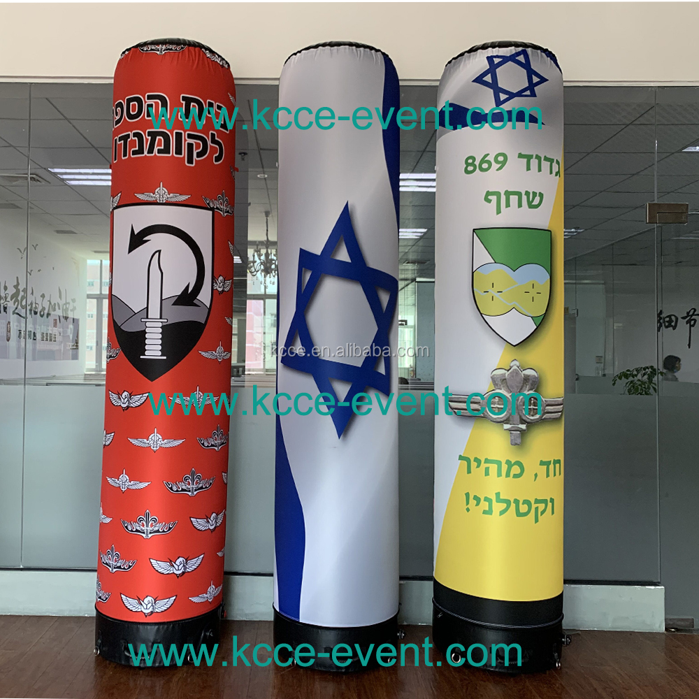 High quality double layer TPU Trade show Advertising inflatable led pillar column//