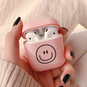 Lovely nice smile colorful cute cartoon bluetooth headset earphone case for apple airpods pro cover