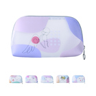 Bag Clutch Bag Pvc Bags New Design Makeup Pouch Clear Pvc Bag Water-resistant Morandi Painting Cosmetic Bag Clutch Purse