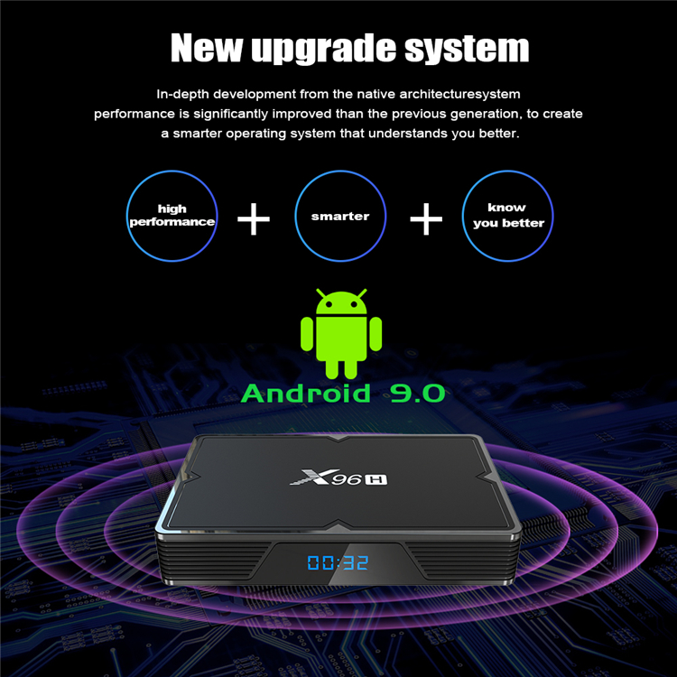 New Product X96H Allwinner H603 dual-bank HD professional design set top box 4k smart android box