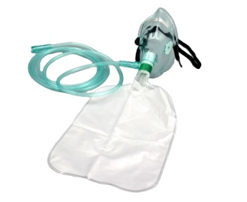 Disposable Non Rebreathing High Concentration Oxygen Mask With Reservoir Bag