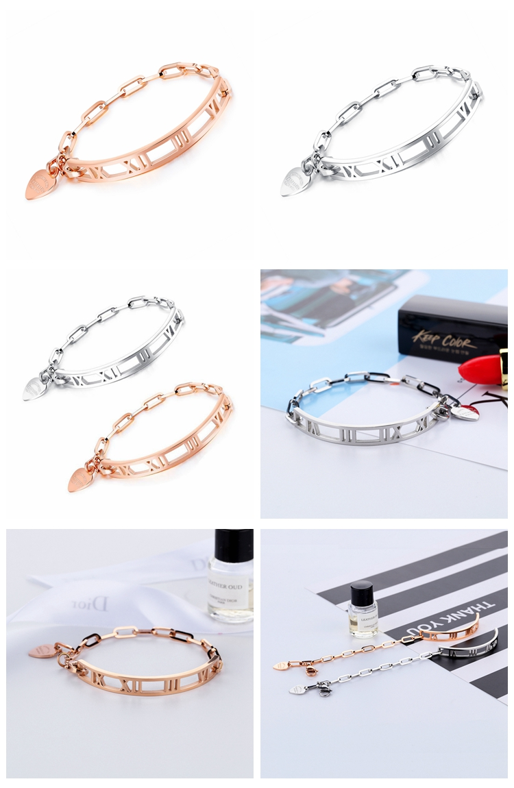custom hot selling personalized engraved mantra initial letter roma numeral alphabet silver gold filled bracelets for unisex