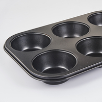 Cakes tools mold aluminum baking sheet 6 cups metal nonstick cake bake pan