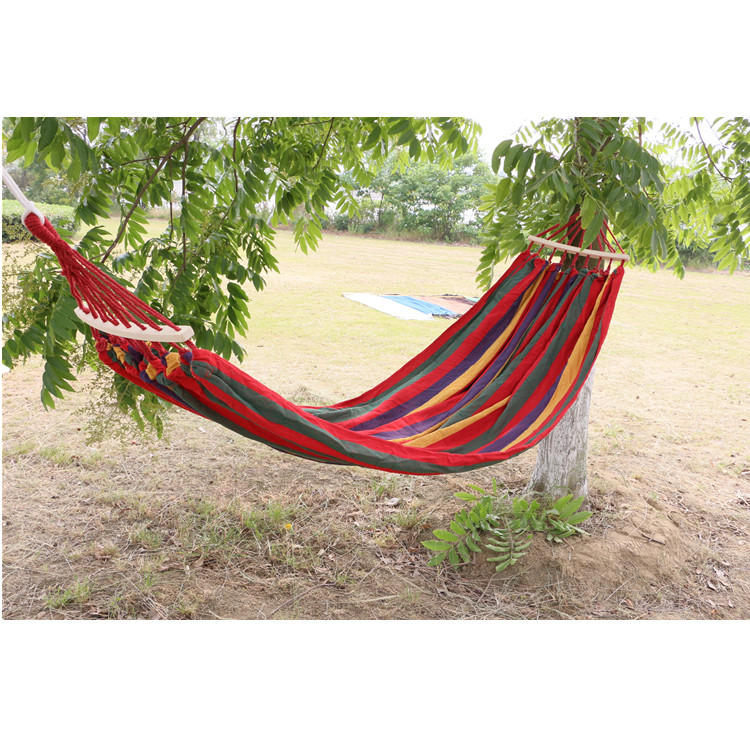 Hot Sale Rainbow Gingham Swing Cotton Hammock Outdoor Hammock