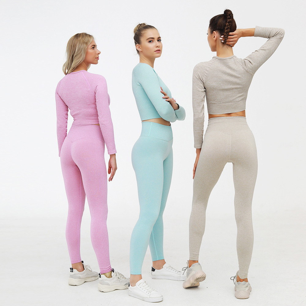 Toplook 2 Piece Set Women Seamless Long Sleeve Yoga Sets Workout Gym Clothes 2020 Legging And Top S439