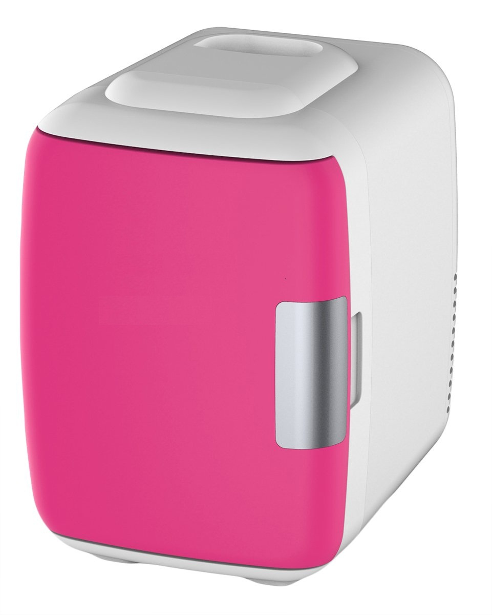 Mini Refrigerator- Portable Personal Fridge Cools Lightweight Compact Storage For Skincare, Snacks