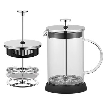 Heat resistant high borosilicate glass wholesale stainless steel french press coffee maker