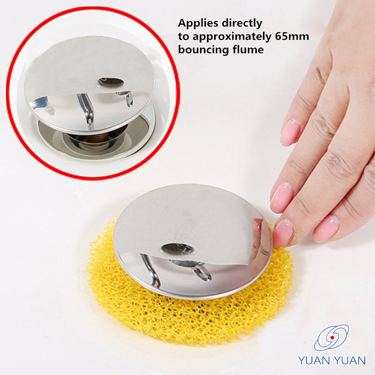 Durable And Reusable Eliminating Clogs Easy To Install Drain Outlet Yellow Color Filter Sponge