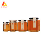 Pure Halal Natural Honey in Glass Jars with OEM free
