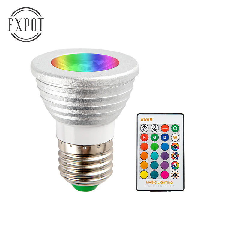 Dimmable RGB RGBCW RGBWW E26 E27 B22 E14 <strong>GU10</strong> GU5.3 <strong>holder</strong> 5W led spot light