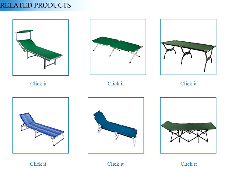 Modern Reclining Folding Outdoor Camping Fold Up Beds Portable