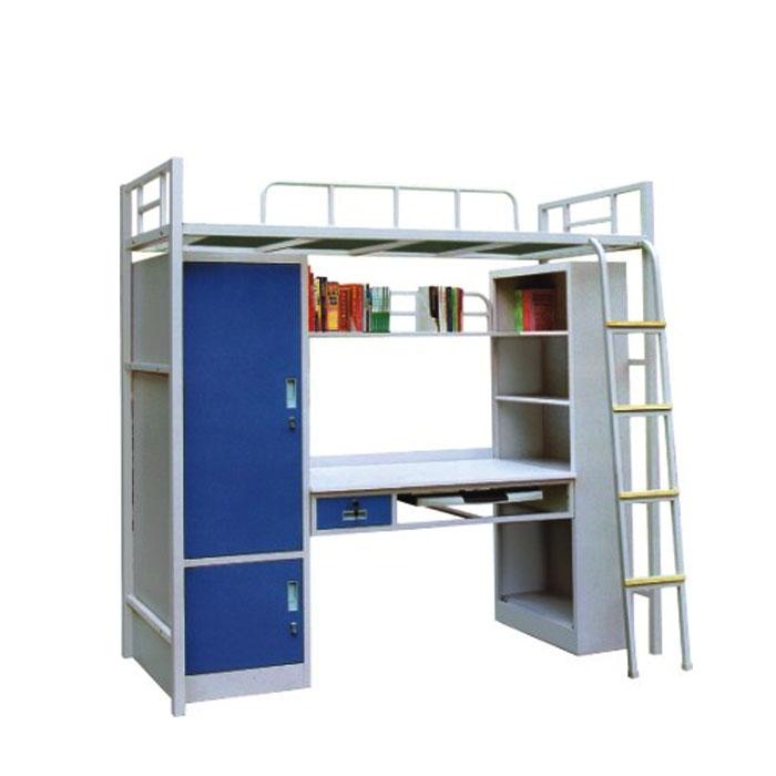 학교 장비 접이식 더블 금속 이층 침대 스토리지 캐비닛 데스크