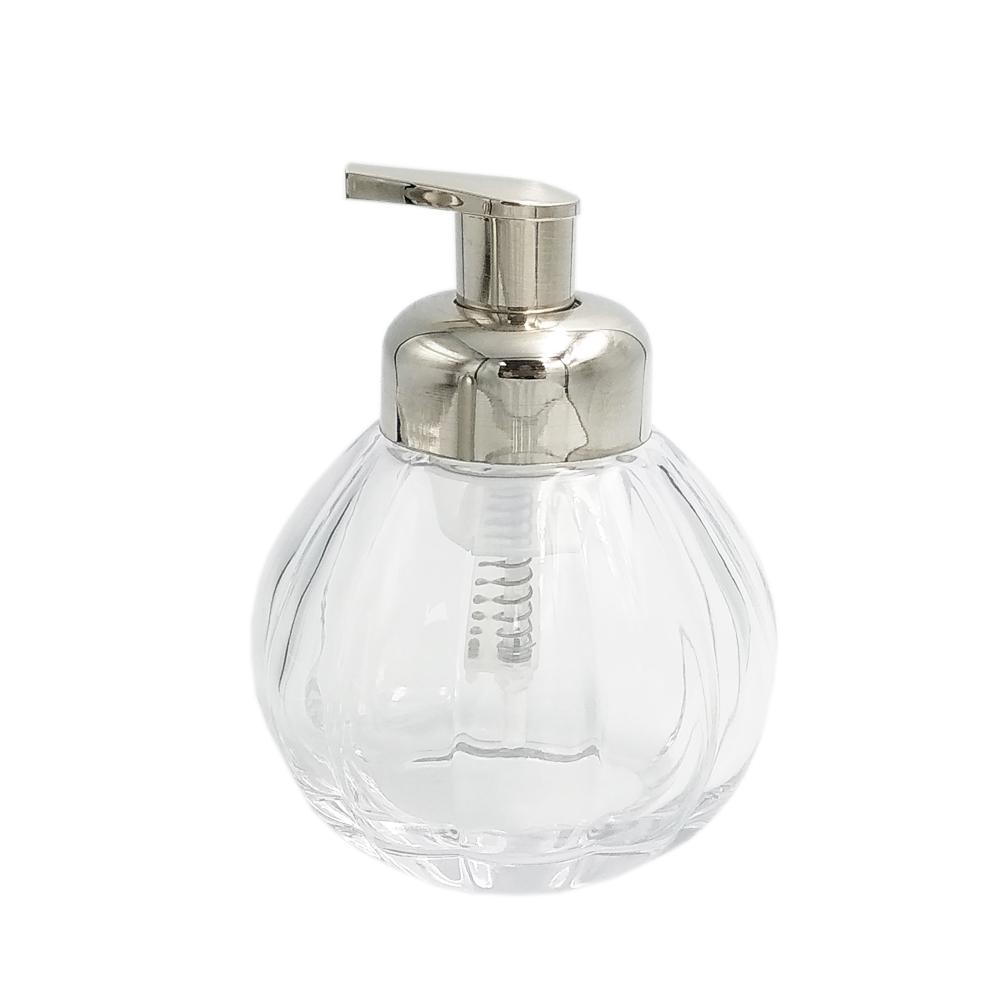 400ml durable custom special pumpkin shape bathroom body shampoo soap lotion cream clear glass bottle foam pump dispenser