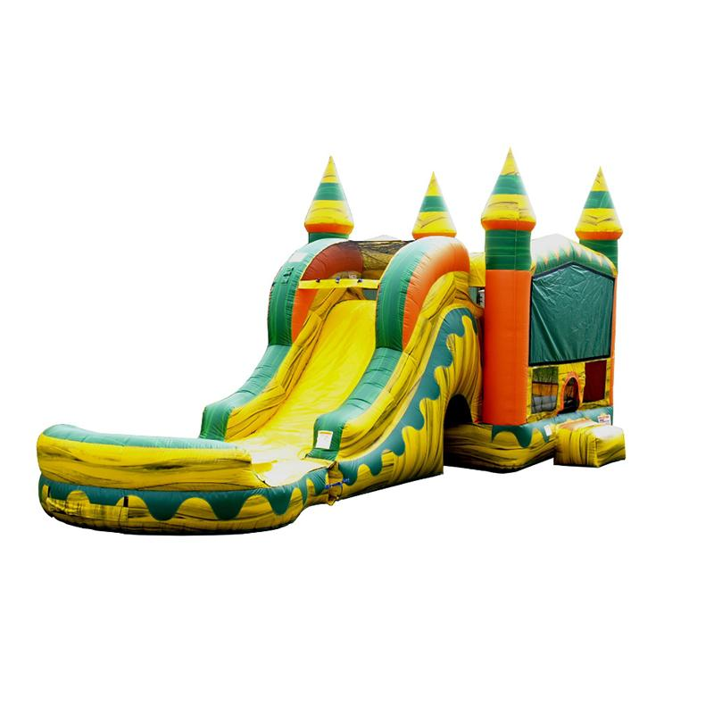 Slide inflatable bouncer combo inflatable jumping house with slide dry inflatable slides