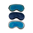 Wholesale Custom Adjustable Elasticity Nature Polyester Stain Silk Eye Mask with Ice Bag for Sleeping Travelling for puffy eyes