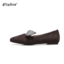 With best quality and low price slip on loafer knot women ballet flats