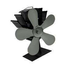Анодированный алюминиевый 5 лопастей вентилятор для печи, работающий от тепловой энергии для дерева/бревен горелка/вентилятор для камина с ...(Китай)