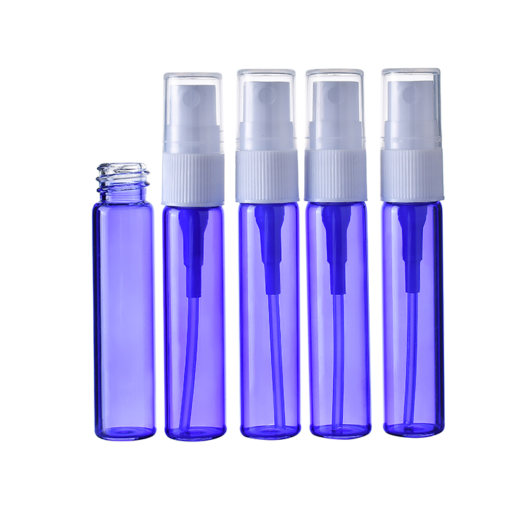 5ml 8ml blue color refillable glass vial for perfume packing