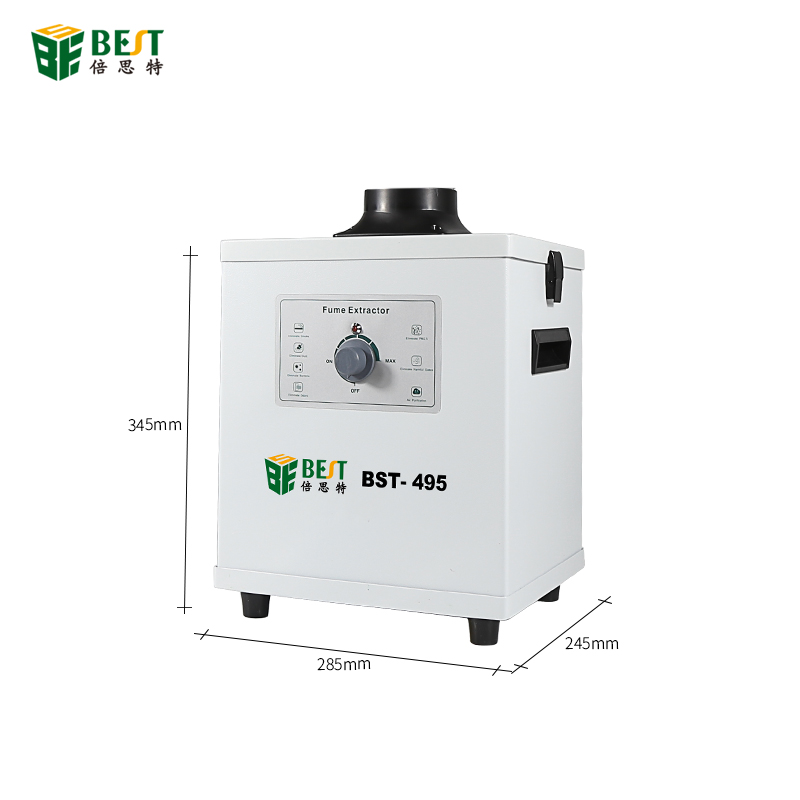 BST-495 110V/220V Smoke Cleaner Knob Adjustment Fume Extractor Soldering MINI 150W Smoke Absorber Air Purifier Machine