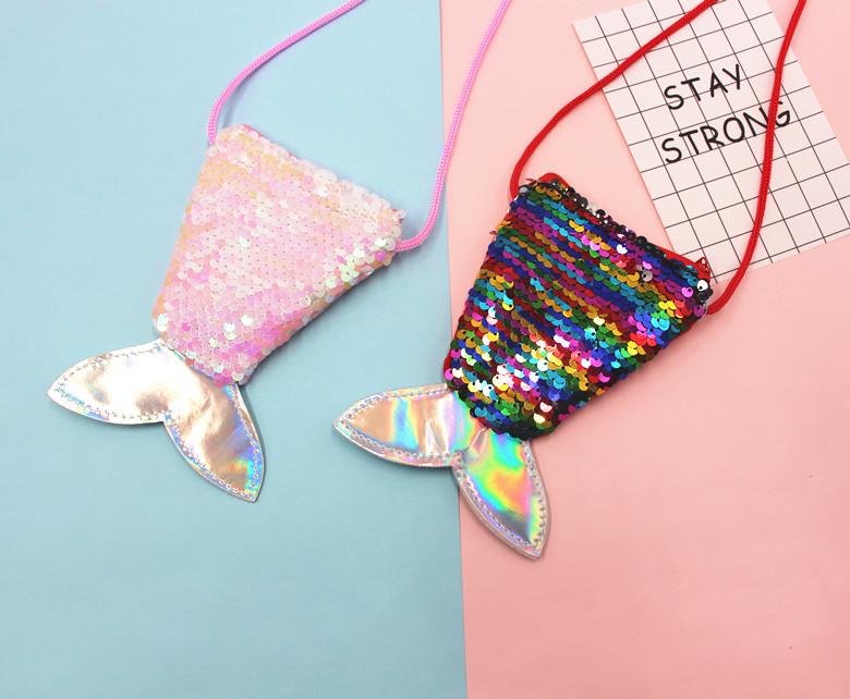 RETON मत्स्यांगना पूंछ सिक्का पर्स लड़कियों के लिए पदोन्नति थोक बच्चों मनी पाउच फैशन बच्चे जन्मदिन क्रिसमस उपहार