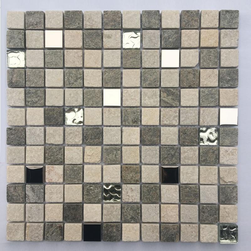 Hot Selling Carrara white and black Natural Stone Mosaic marble mosaic glass mosaic Manufacture from Foshan China