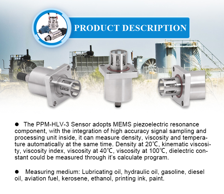 Changsha High Accuracy Oil Viscosity and Density Sensor