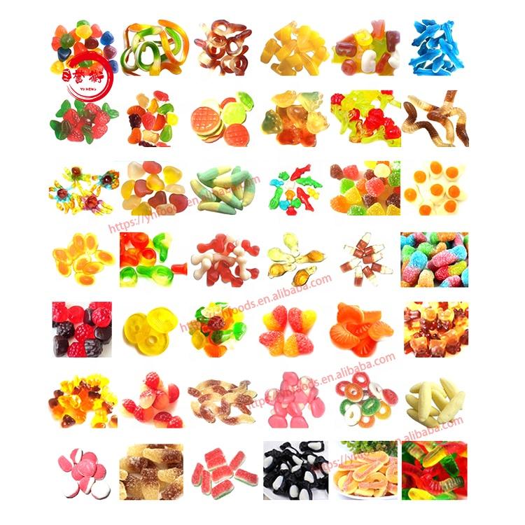 Wholesale bulk packing various shape gummy sweet halal fruity gummy jelly candies