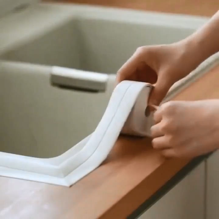 3.2mx38mm Bathroom Shower Sink Bath Sealing Strip Tape Caulk Strip Self Adhesive Waterproof Wall Sticker for Bathroom Kitchen