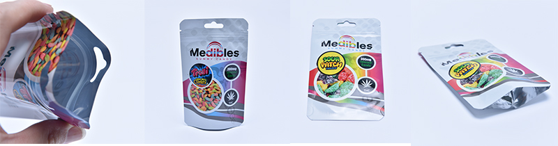 Custom printed smell proof ziplock edible cookies weed 3.5g runtz mylar bags