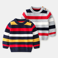 2019 Autumn New Kids Clothes Baby Boy Boutique Colorful Striped Children Sweater