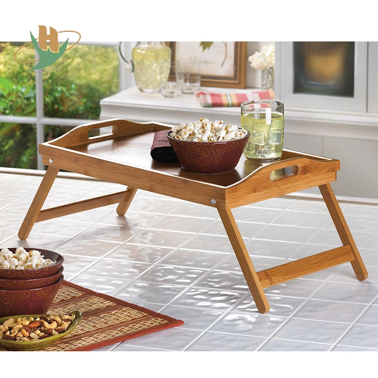 Bamboo Bed Wooden Breakfast Tray Table Wholesale