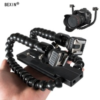 New Innovative Flash Light Holder Quick Release Plate Fitting Tripod Stand Dslr double arm bracket for dslr Camera flash light