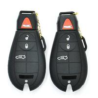 car key silicone case for J-EEP Ch-rysler D-odge 4 buttons silicone car key cover